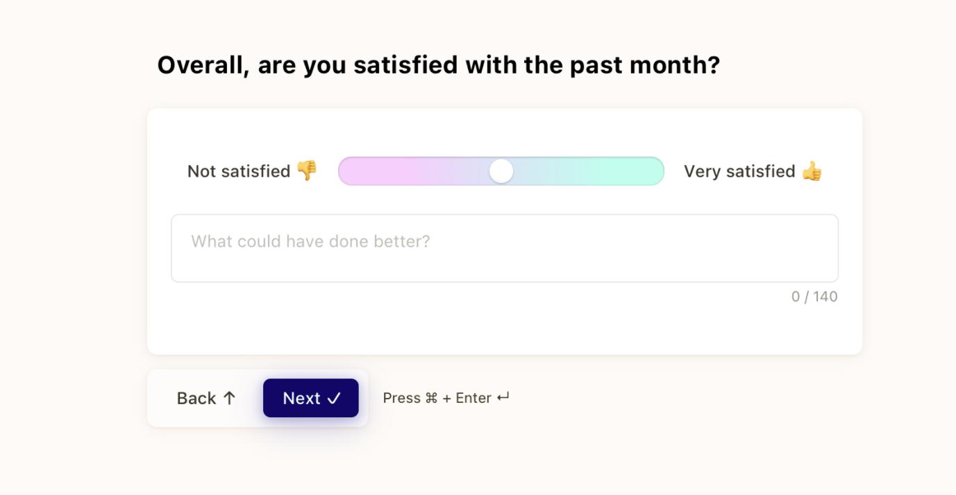 Screenshot of the Popwork monthly mood question