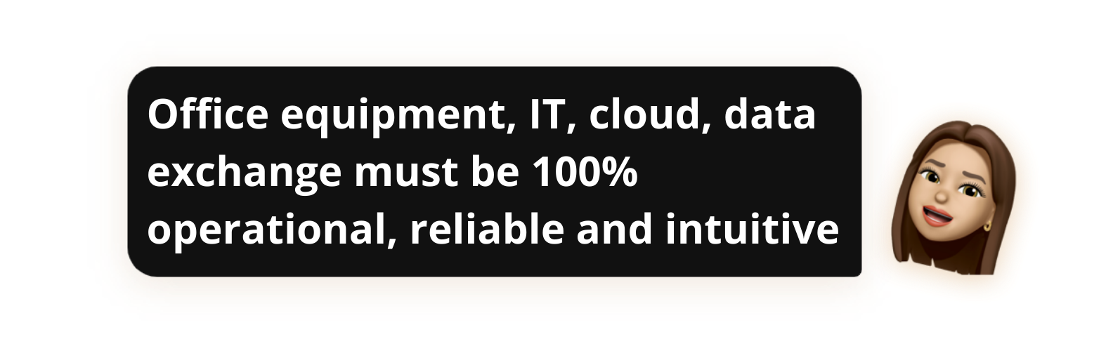 Office equipment, IT, cloud and information storage, data exchange must be 100% operational, reliable and intuitive - Popwork